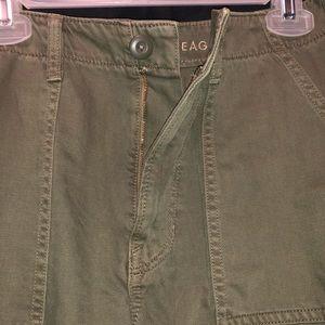 American Eagle Army Green Crop Utility Pants
